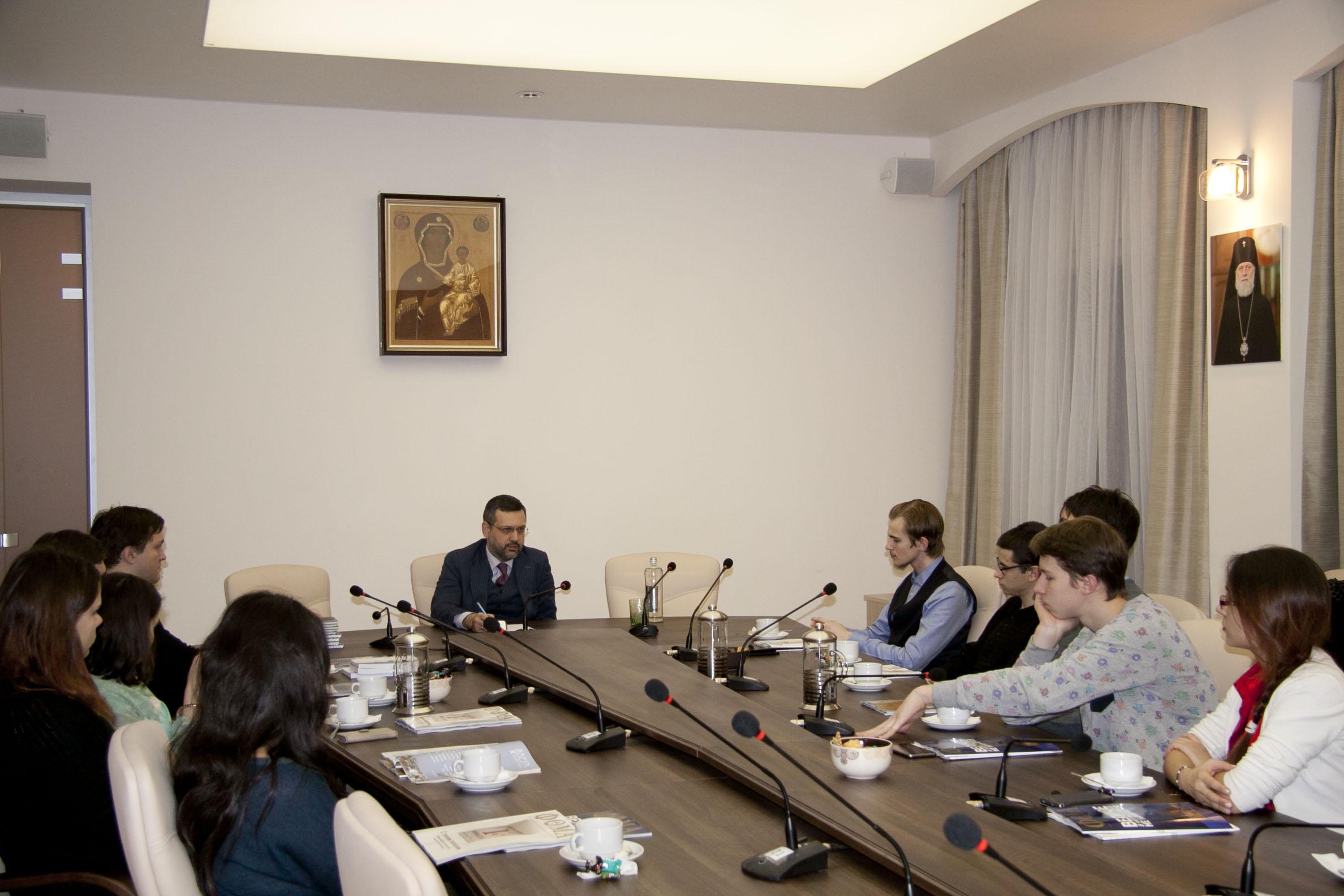 В.Р. Легойда встретился со студентами философского факультета МГУ