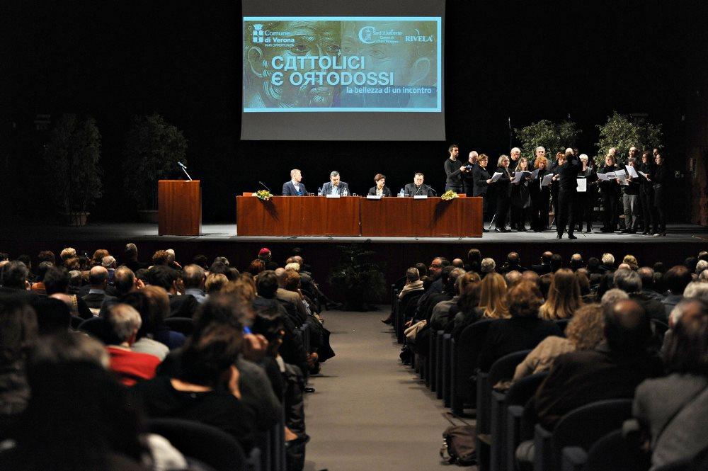 В Вероне прошло мероприятие, приуроченное к первой годовщине встречи Святейшего Патриарха Кирилла с папой Римским Франциском