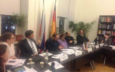 Представители Отдела приняли участие в круглом столе «Роботы, искусственный интеллект, достоинство человека: проблемы и вызовы»