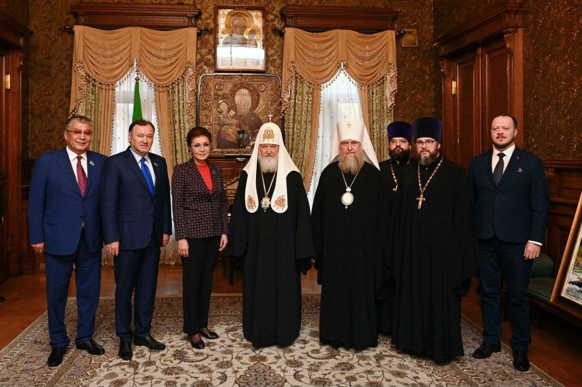 Предстоятель Русской Православной Церкви встретился с председателем Сената Казахстана Д.Н. Назарбаевой